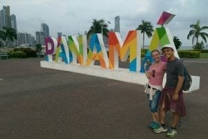 Lisa Drecker mit Carlos in Panama.
