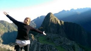 Lisa Drecker in Machu Picchu.